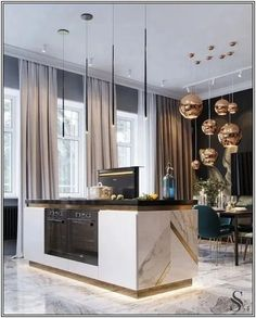 130 kitchen island ideas to add that perfect blend of drama & design - page 36 ~ Modern House Design