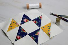 Hand Pieced QAL: Half Square Triangles