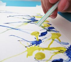 Straw Painting Art<3 Fun for babysitting and you could tag along too!