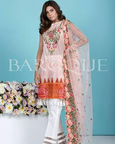Baroque Festive Eid chiffon. 4500+ sh. Limited stock. Open for booking  Ping us on WhatsApp   8527224926   or log onto our page   https://m.facebook.com/PakeezahCollection/  please like and  share our page n keep blessed