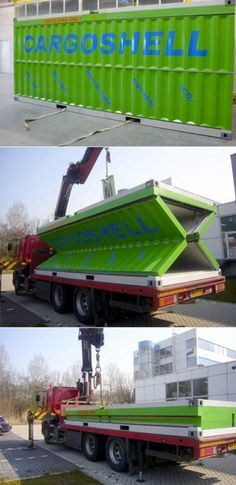 pop up container, interesting idea for compact transport.