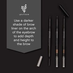 #TechniqueTuesday: Here's a tip for on-point brows that we learned from a professional makeup artist onstage at Younique Convention. #TipTuesday Our new long-wearing smudge-proof Moodstruck Precision Brow Liners come with a special spoolie on the end for flawless blending & shaping. Add them to your makeup bag on September 1! Double-tap if you're excited for our new brow liners!