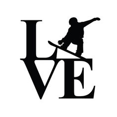LOVE Snowboard Vinyl Decal by DecalStash on Etsy