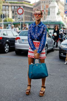 ♥ at KG Street style... I love all of these elements... I couldn't pull them off all together. I simply adore her chutzpah. PE