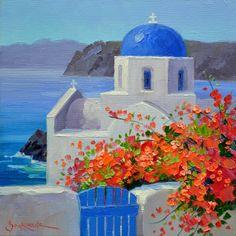 Shimmering Santorini 6x6