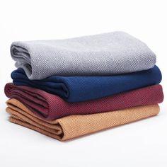 Coyuchi Herringbone Organic Wool Throw Blanket