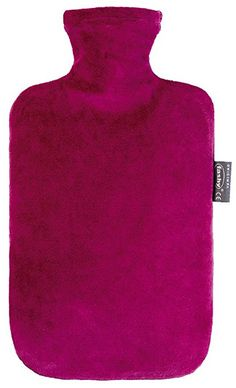 Fashy Hot Water Bottle with Velour Cover Bordeaux - Made in Germany