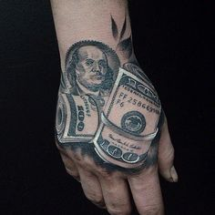 20 Unique Money Tattoo Designs - Key to Getting Everything Mob Tattoo, 3d Tattoos, Unique Tattoos, Body Art Tattoos, Tattoo Drawings, Tattoo Designs And Meanings, Tattoo Sleeve Designs, Tattoo Designs For Women, Sleeve Tattoos