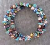 Multi-Color Freshwater Pearl Bracelet (NP96)