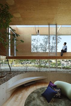The building of Ken UID, based in Fukuyama City, Hiroshima Prefecture, Japan, is here for a moment … – Modern Architecture Japan Architecture, Wood Architecture, Residential Architecture, Architecture Details, Interior Garden, Interior And Exterior, Interior Design, Japanese Interior, Tropical Houses