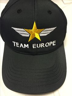 Embroidered logo on hat