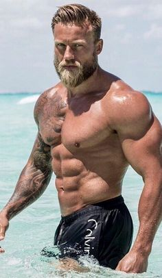 "Over images of beautiful bearded men; To learn more about the man in a post, click where it says ""source. Muscle Hunks, Muscle Men, Hairy Men, Bearded Men, Scruffy Men, Bad Boy, E Book, Blonde Guys, Mature Men"