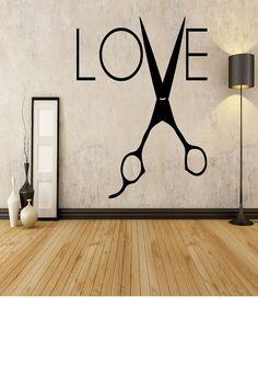 LOVE with Shears Hair Stylist Salon Home by EmmaEmbellishments