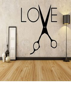 LOVE with Shears Hair Stylist Salon Home by EmmaEmbellishments