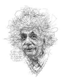 Drawing Portraits - Oeuvre by Vince Low - Célébrité Albert Einstein Discover The Secrets Of Drawing Realistic Pencil Portraits.Let Me Show You How You Too Can Draw Realistic Pencil Portraits With My Truly Step-by-Step Guide. Line Drawing, Drawing Sketches, Pencil Drawings, Painting & Drawing, Art Drawings, Drawing Portraits, Art And Illustration, Stylo Art, Scribble Art