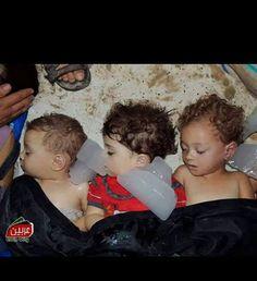 Three cute Palestinian babies (from Gaza), killed by Israeli airstrike!  No more space in the fridges. #FreePalestine #GazaUnderAttack #ICC4Israel  Gaza Health Ministry: 1095 killed, more than 6500 injured. SELF-DEFENSE