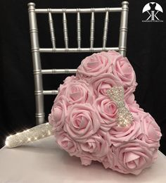MICKEY BRIDAL BOUQUET with BLING CRYSTAL REAL RHINESTONE Handle and RHINESTONE PEARL BOW. Minnie Bridal Bouquet. Mickey Bouquet. Mickey Flower Girl Bouquet. Mickey Bridesmaids Bouquet. PICK ROSE COLOR!  Dimensions: Head 10 width X 8.5 height (7 face Dusty Rose Wedding, Bling Wedding, Purple Wedding, Luxury Wedding, Ivory Wedding, Mickey Centerpiece, Red Centerpieces, Silver Centerpiece, Disney World Wedding