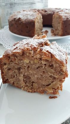 A juicy dream! Apple and walnut cake . Apfel-Walnuss-Kuchen… – Kinderkuecheundso A juicy dream! Apple and walnut cake … – Children& kitchen and so on - Low Carb Cheesecake, Cheesecake Recipes, Sweets Cake, Cupcake Cakes, Apple Recipes, Sweet Recipes, Bread Recipes, Cheese Cake Receita, Walnut Cake