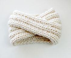white chunky turban headband pattern $5