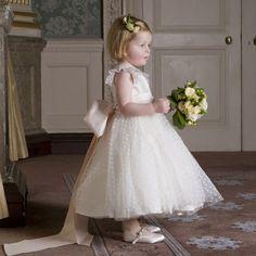 Nicki Macfarlane - Ivory Silk & Tulle 'Maisy' Dress   CHILDRENSALON