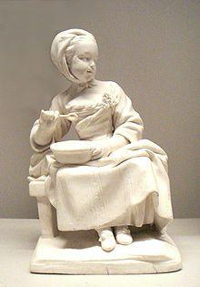 soft paste porcelain  | Bisque of soft-paste porcelain , Vincennes manufactory , 1754-1755.