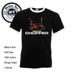 Men's Funny Look At My Chopper T-shirt, 5 colours Raleigh Chopper, High Quality T Shirts, 70s Fashion, Cool Designs, Shirt Designs, Colours, Funny, Mens Tops, Clothes