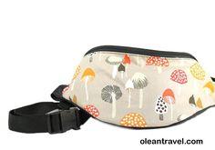Mushroom - Cute Fanny Pack - Hip Waist Bag for travel, sport, and hiking - 2 zipper - http://oleantravel.com/mushroom-cute-fanny-pack-hip-waist-bag-for-travel-sport-and-hiking-2-zipper