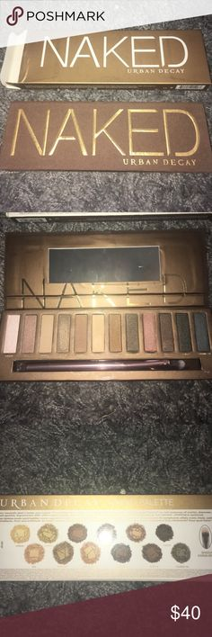 Urban Decay Naked Palette Never used before. Lightly swatched. Beautiful neutral colors. Urban Decay Makeup Eyeshadow