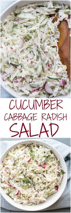 Cabbage Cucumber and Radish Salad
