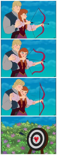 Anna and Kristoff from the scene in The Swan Princess 2.