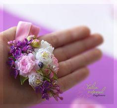 Chiffon, Mini, Jewelry, Cold Porcelain, Flowers, Silk Fabric, Jewlery, Jewerly, Sheer Chiffon