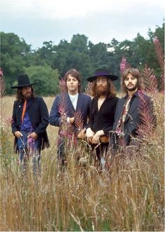 George Harrison, Paul McCartney, John Lennon, and Richard Starkey (The Beatles last photo shoot)