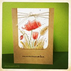 "art scrap & more: a CARD: Penny Black Inc. ""Field of Poppies"""