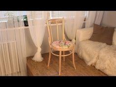 Szék felújítása festéssel és kárpitozással // Pentart.hu - YouTube Accent Chairs, Projects To Try, Curtains, Furniture, Vintage, Youtube, Home Decor, Style, Tools
