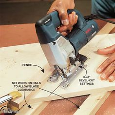 Use a Fence for Perfectly Straight Cuts - A jigsaw is versatile enough to make straight, compound and beveled cuts through boards. Hold the workpiece firmly and guide the saw steadily against a saw fence. Avoid driving blades into the benchtop (bending an