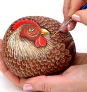 rock instructions  Note: This is a nice fat hen and would look good with a grouping.