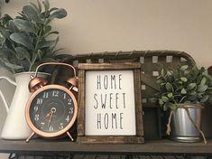 Rae Dunn sign. Home sweet Home Rae Dunn inspired painted wood sign. Home Decor  #raedunn