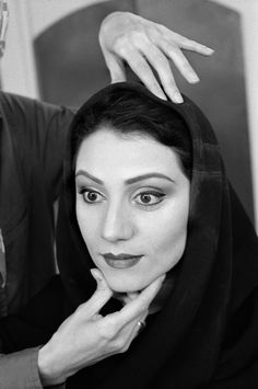 Abbas        IRAN. Tehran. An actress is being made up for a play to be performed at the City Theatre.