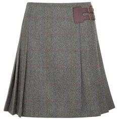 Women's Dubarry Foxglove Skirt ($201) ❤ liked on Polyvore featuring skirts, pleated skirt, dubarry, tweed skirt and knee length pleated skirt