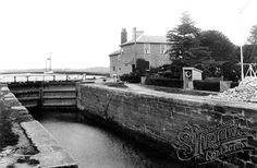 Old photo of Turf Lock 1906, Exminster