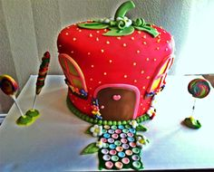 Too Sweeties..   Strawberry Shortcake House Cake - Made for Sweet girls 3rd Birthday Party