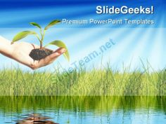 Save Plant Nature Powerpoint Template  Powerpoint Templates