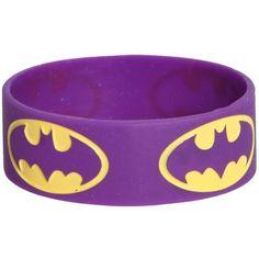Best Bracelet 2017/ 2018 : DC Comics Batman Purple Rubber Bracelet | Hot Topic and other apparel, accessori...
