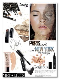 """glitter beauty"" by tsungie ❤ liked on Polyvore featuring beauty, Bobbi Brown Cosmetics, Burberry, CARGO, Topshop, Tory Burch, Urban Decay and Too Faced Cosmetics"