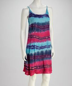 Take a look at this Blue & Turquoise Tie-Dye Dress by India Boutique on #zulily today!  cute!