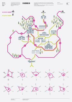 Density design | Around Mi / #architecture #diagram #drawing #urban #design