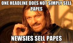 #newsies sell papes