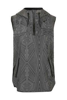 Print Sleeveless Wrap Back Jacket by Ivy Park