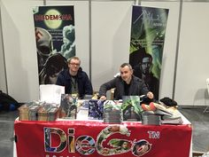 Authors Francesco Matteuzzi and Giuseppe Di Bernardo at LSCC Comic Conventions, Authors, Comics, Comic, Cartoons, Writers, Cartoon, Comic Books, Graphic Novels
