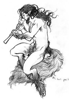 Satyr Tattoo Drawing